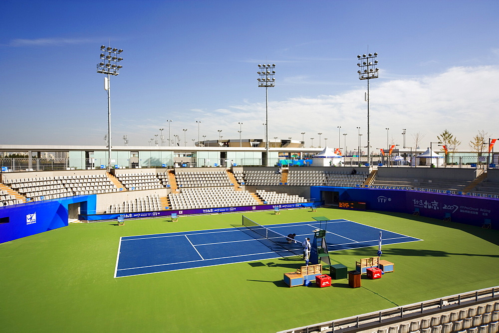 Olympic Green Tennis Stadium, architect Bligh Voller Neild, 2008 Olympics, Beijing, China, Asia