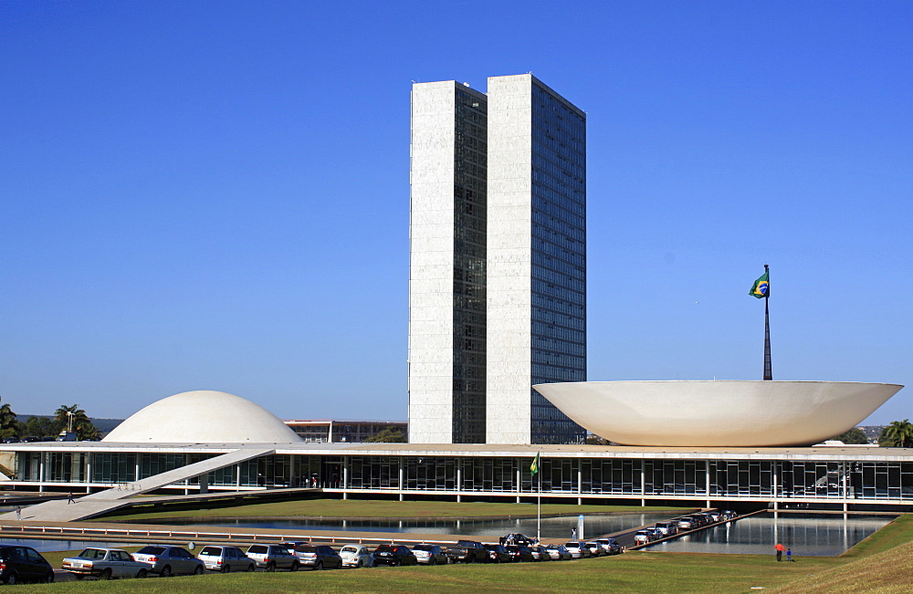 National Congress, architect Oscar Niemeyer, Brasilia, Brazil, South America - 815-2180