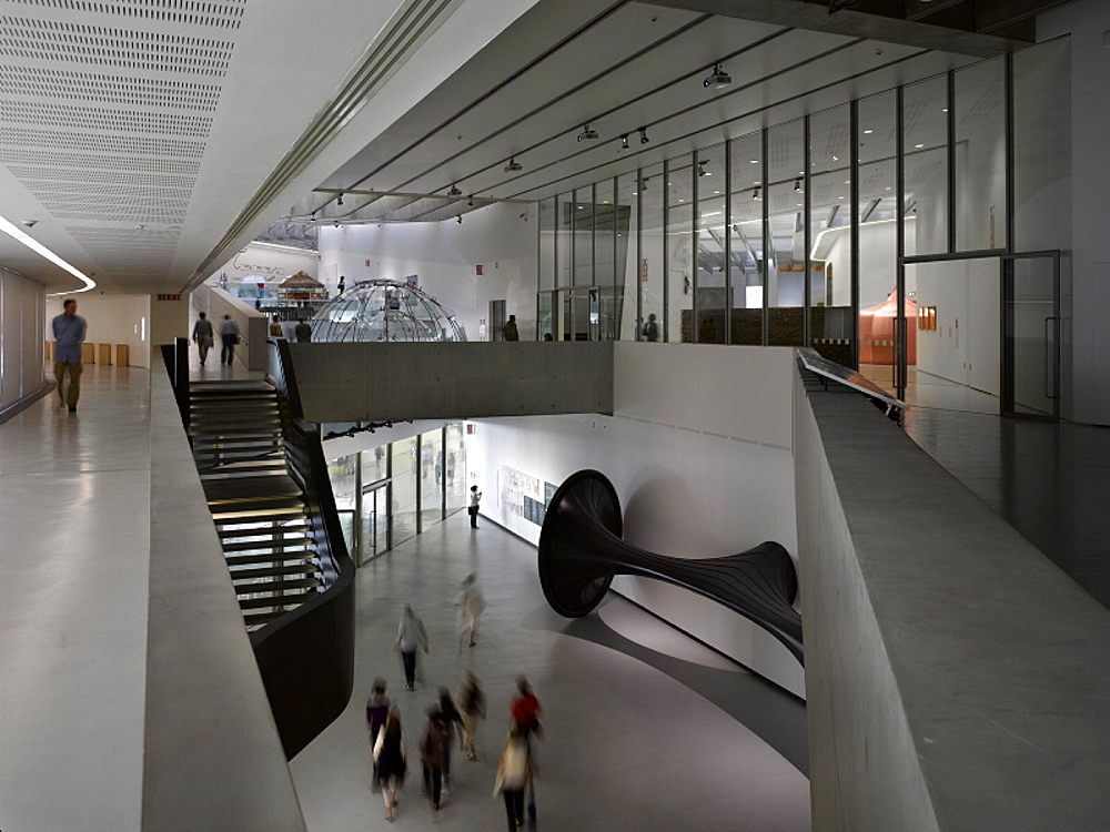 The MAXXI, National Museum of 21st Century Arts, architect Zaha Hadid, Rome, Lazio, Italy, Europe