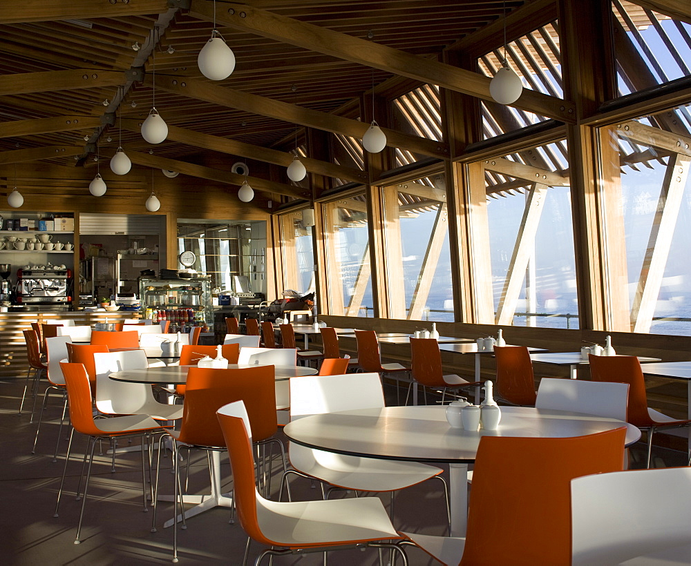 Jasin's Restaurant, architects Niall Mclaughlin, Deal Pier, Deal, Kent, England, United Kingdom, Europe - 815-2293