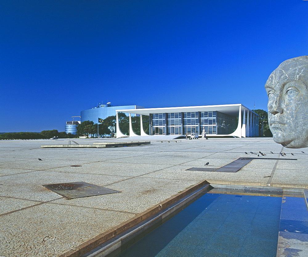 Supreme Federal Court, Praca dos Tres Poderes, Brasilia, UNESCO World Heritage Site, Brazil, South America