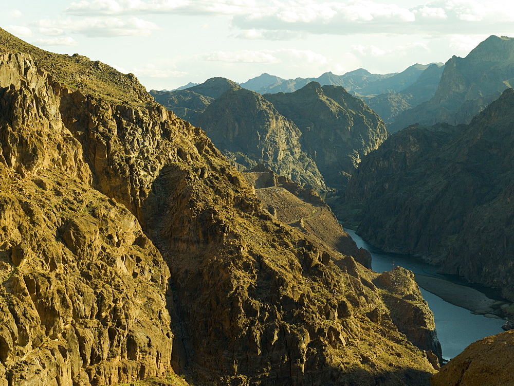 Grand Canyon and Colorado River from the Hoover Dam, Arizona, United States of America, North America