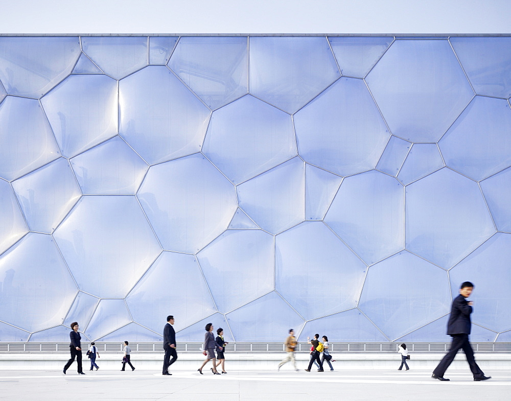 National Aquatics Center, The Water Cube, built for the 2008 Olympics, Beijing, China, Asia - 815-800