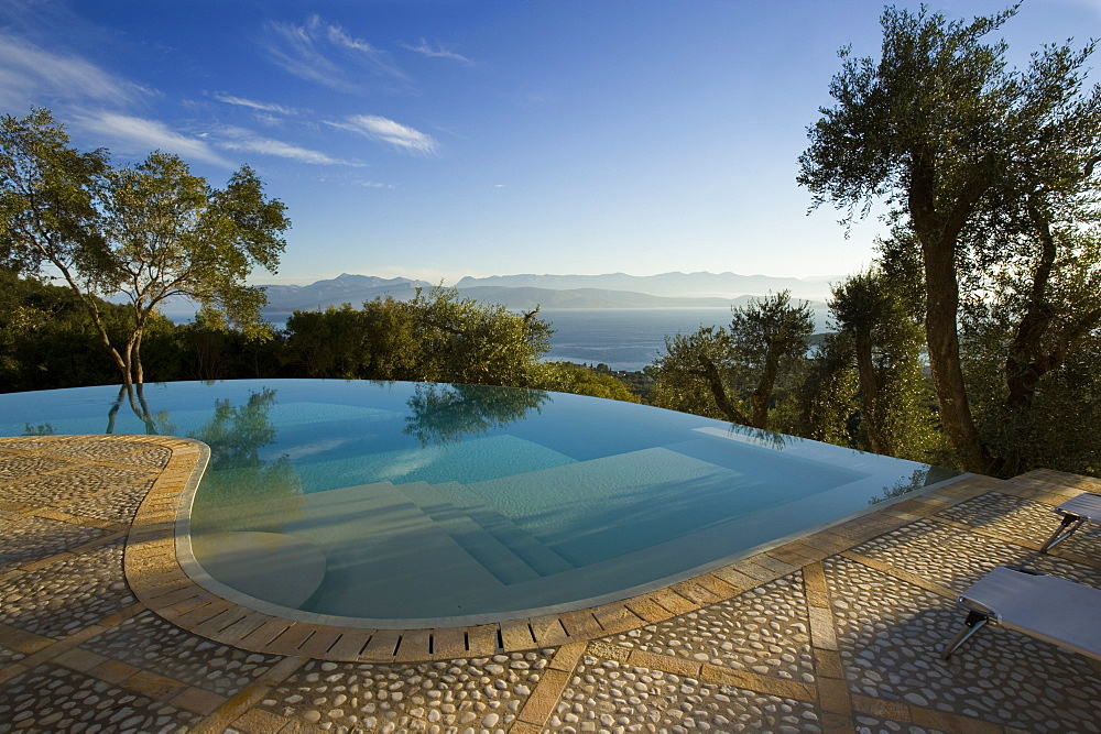 High quality stock photos of greece - Infinity pool europe ...