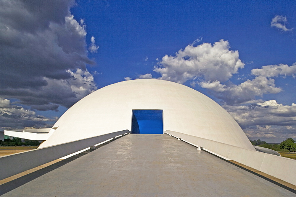 Dome, architect Oscar Niemeyer, Brasilia, UNESCO World Heritage Site, Brazil, South America - 815-920