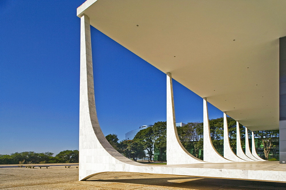 Supremo Tribunal Federal (STF)  (Supreme tribunal), built in 1958, architect Oscar Niemeyer, Brasilia, UNESCO World Heritage Site, Brazil, South America