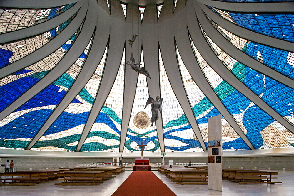 Brasília Cathedral, architect Oscar Niemeyer, Brasilia, UNESCO World Heritage Site, Brazil, South America - 815-942