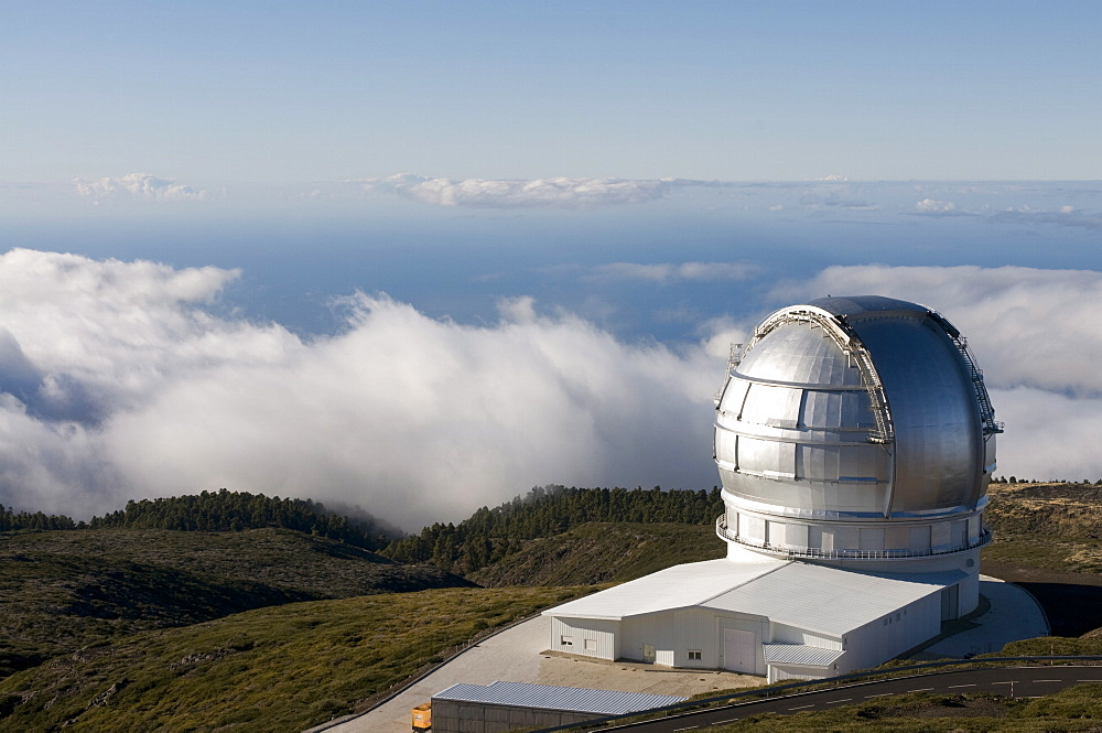 Astronomical observatory at top of the Taburiente, La Palma, Canary Islands, Spain, Europe - 816-1081