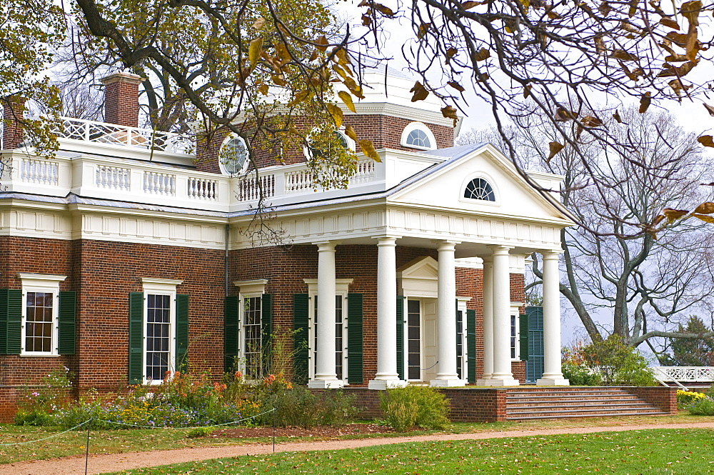 The estate of Thomas Jefferson, Monticello, Virginia, United States of America, North America