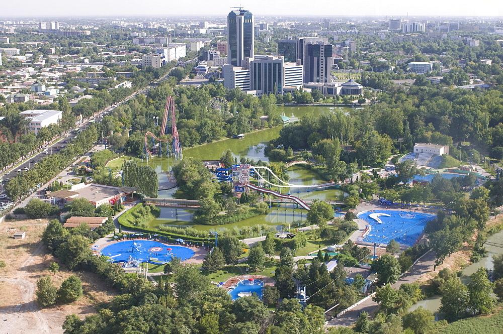 View over Tashkent from the TV Tower, Tashkent, Uzbekistan, Central Asia