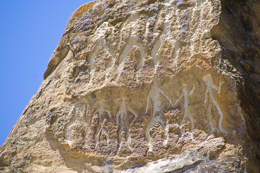 Petroglyphs, Qobustan, UNESCO World Heritage Site, Azerbaijan, Central Asia, Asia