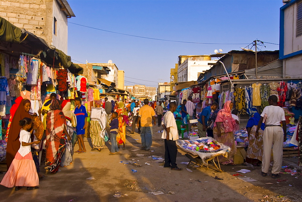 Market scene, Djibouti, Republic of Djibouti, Africa