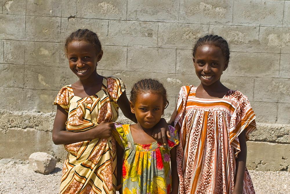 Happy young girls, Tadjoura, Republic of Djibouti, Africa