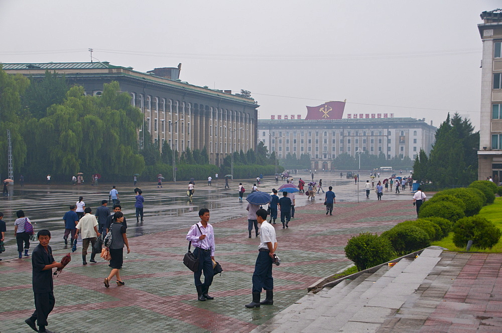 The center of Pyongyang, North Korea, Asia