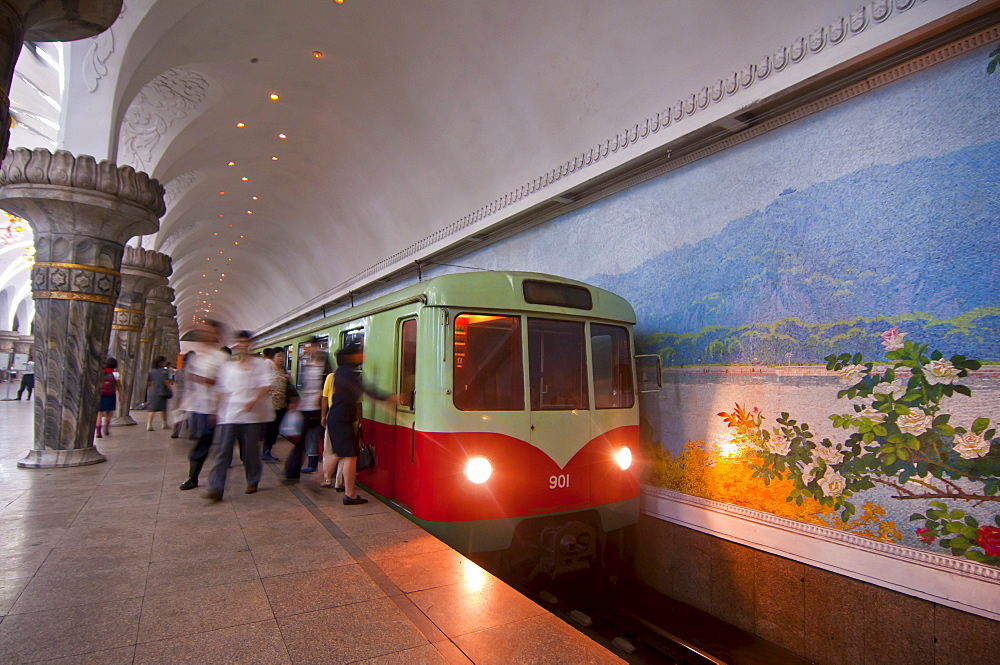 The metro of Pyongyang, Norh Korea, Asia