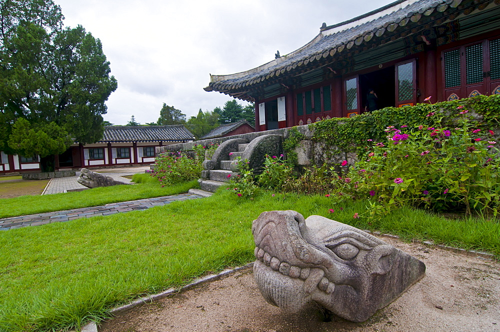 The temple complex of Songgyungwan, home of the Koryo Museum, Kaesong, North Korea, Asia