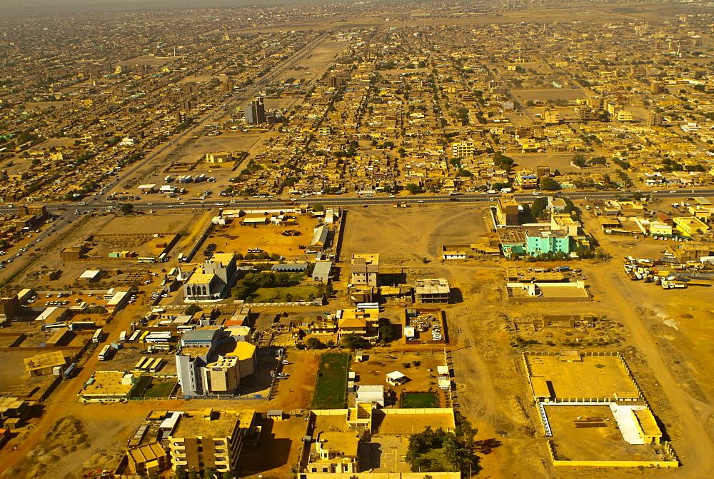 Aerial view of Khartoum, Sudan, Africa