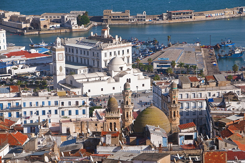 View over the Kasbah of Algiers, UNESCO World Heritage Site, Algiers, Algeria, North Africa, Africa