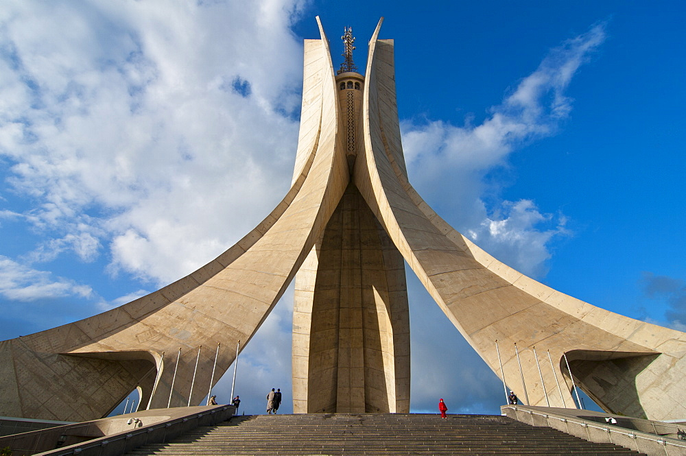 The Martyrs monument, Algiers, Algeria, North Africa, Africa