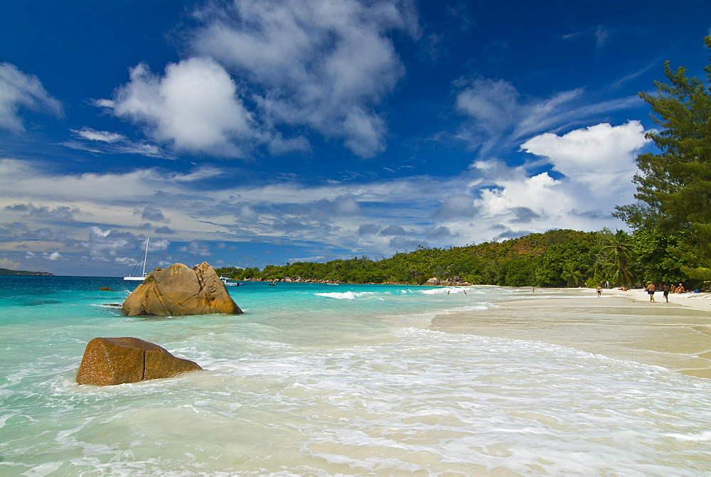 Famous beach of Anse Lazio, Praslin, Seychelles, Indian Ocean, Africa