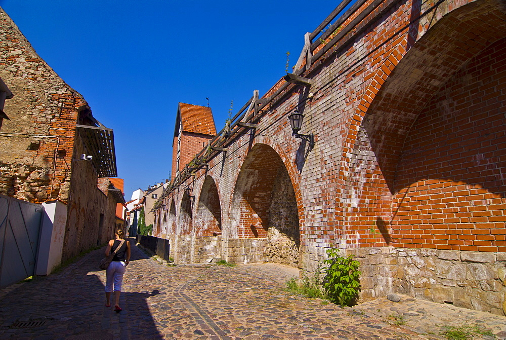 The old town walls of Riga, UNESCO World Heritage Site, Latvia, Baltic States, Europe