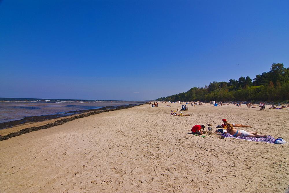The beach of Jurmala, Riga, Latvia, Baltic States, Europe