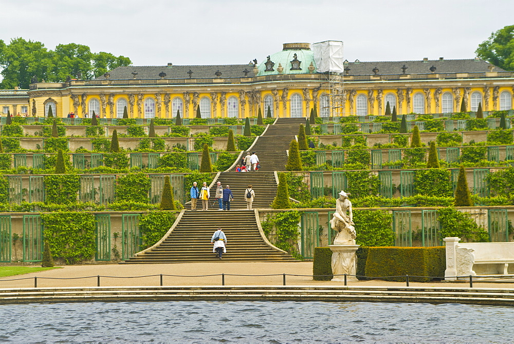 Sanssouci, the former Summer Palace of Frederick the Great, and its gardens, UNESCO World Heritage Site, Potsdam, Berlin, Germany, Europe
