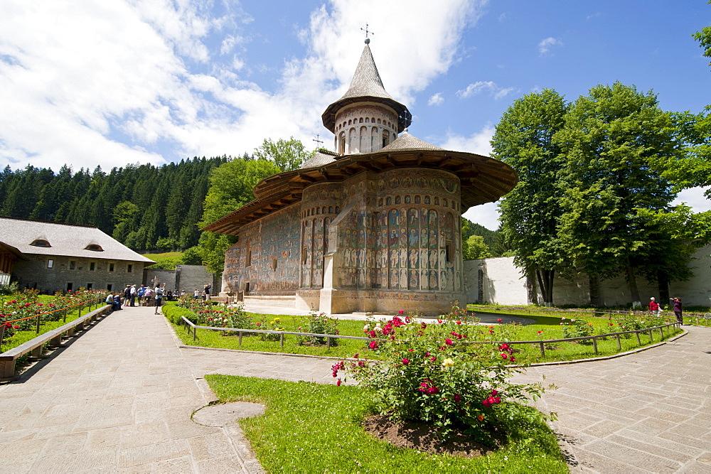 Voronet Monastery in the Bucovina, UNESCO World Heritage Site, Romania, Europe