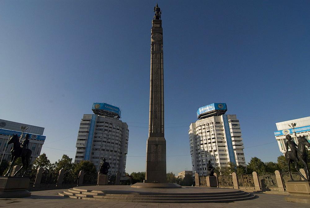 Monument of Independence obelisk, Alma Ata, Kazakhstan, Central Asia, Asia