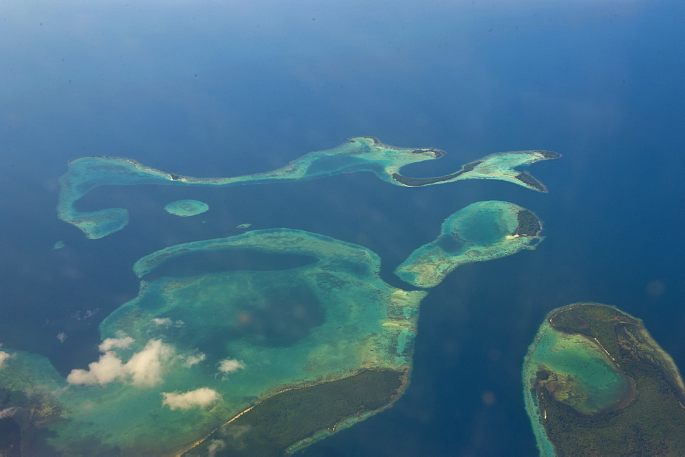 Aerial of the Russell Islands, Solomon Islands, Pacific