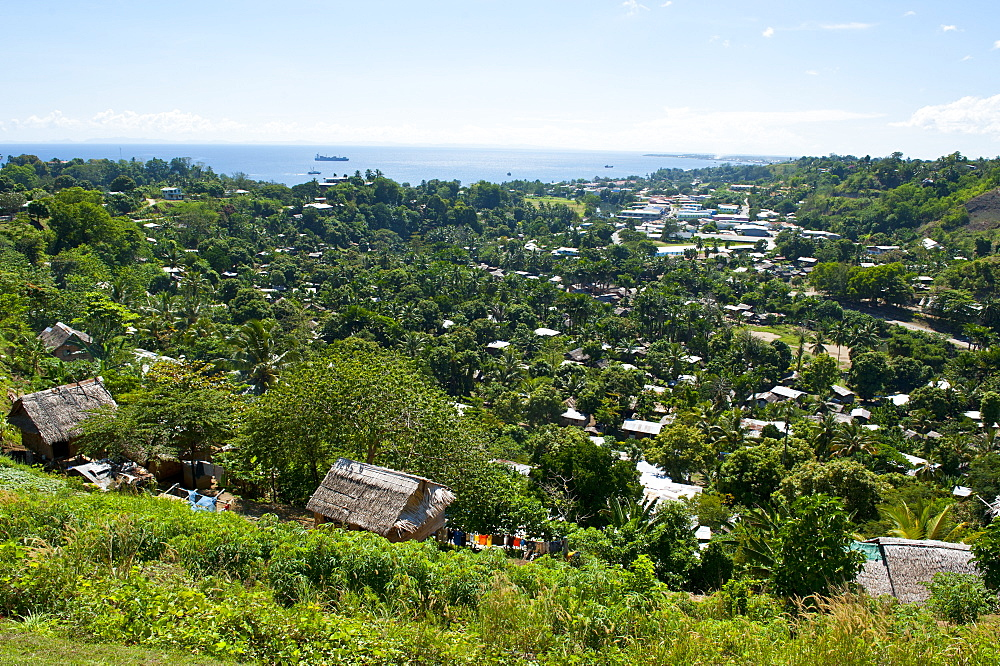 View over Honiara, capital of the Solomon Islands, Pacific