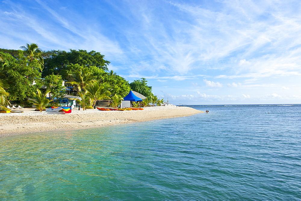 White sand beach at Hideaway Island near Port Vila, Island of Efate, Vanuatu, South Pacific, Pacific