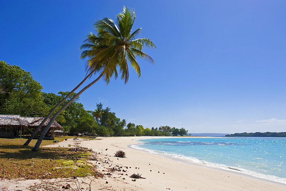 White sand beach in Port Orly, Island of Espiritu Santo, Vanuatu, South Pacific, Pacific