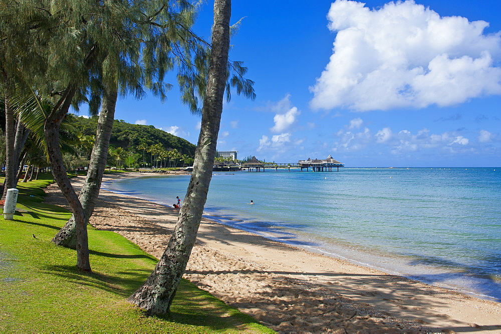Beach in Noumea, New Caledonia, Melanesia, South Pacific, Pacific
