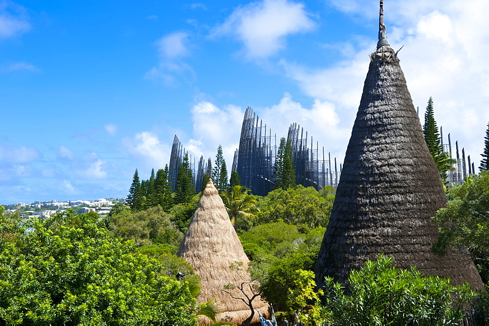 Tjibaou cultural center in Noumea, New Caledonia, Melanesia, South Pacific, Pacific