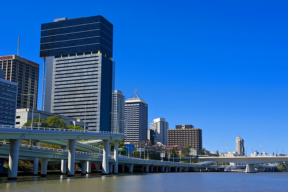 Downtown Brisbane with the Brisbane River, Queensland, Australia, Pacific