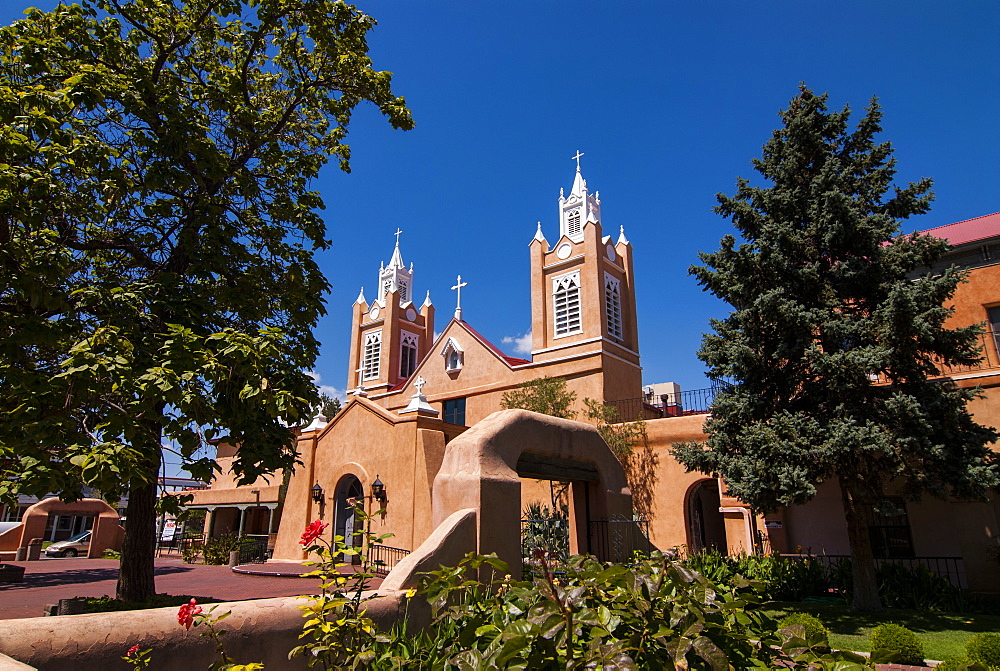 Adobe church in Albuquerque, New Mexico, United States of America, North America