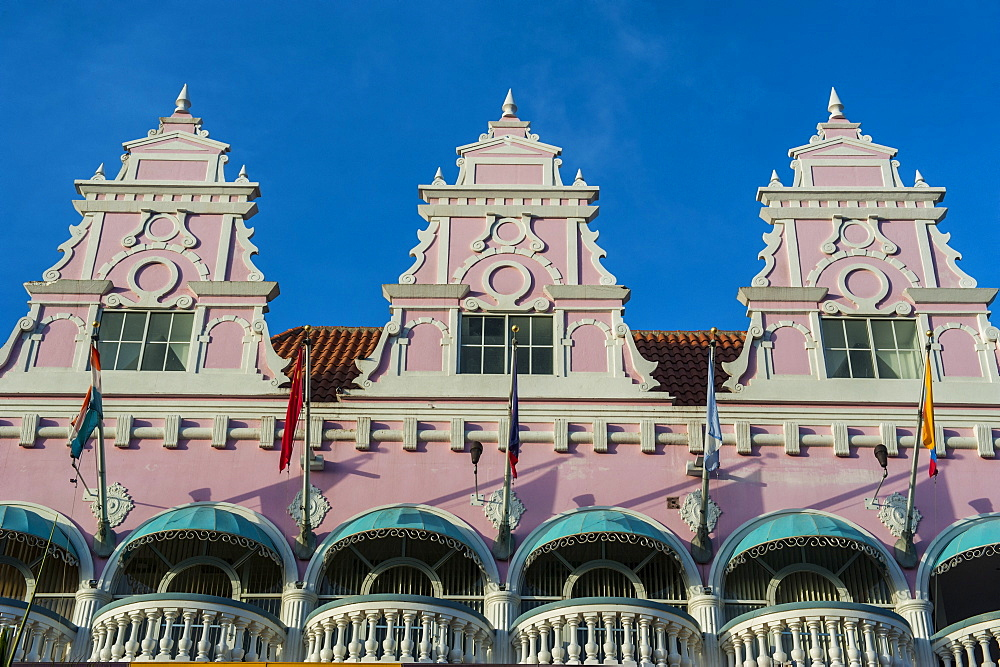Downtown Oranjestad, capital of Aruba, ABC Islands, Netherlands Antilles, Caribbean, Central America