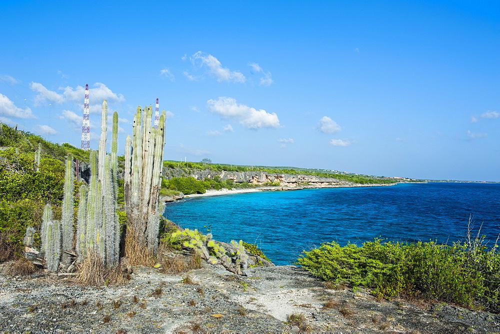 Coast line in the Washington-Slagbaai National Park, Bonaire, ABC Islands, Netherlands Antilles, Caribbean, Central America