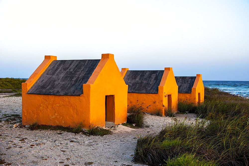 Slave huts in Bonaire, ABC Islands, Netherlands Antilles, Caribbean, Central America