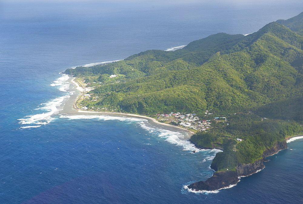 Aerial of Tutuila Island in American Samoa, South Pacific, Pacific