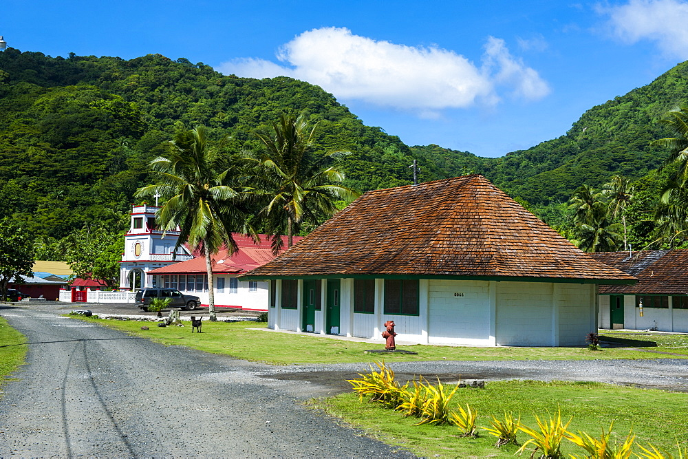 Afono village, American Samoa, South Pacific, Pacific