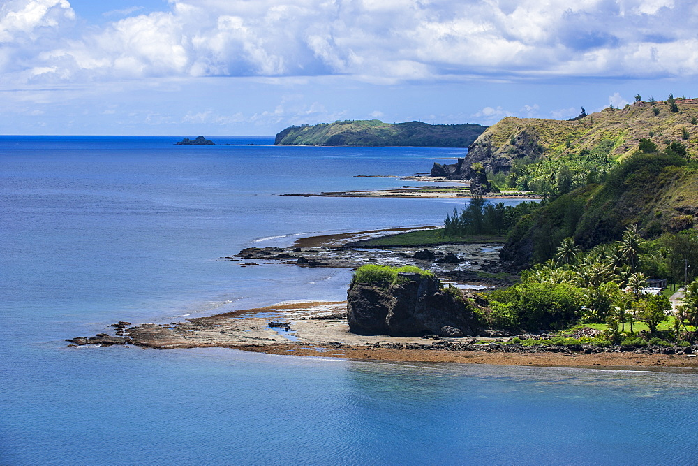 View from Fort Soledad over Utamac Bay in Guam, US Territory, Central Pacific, Pacific