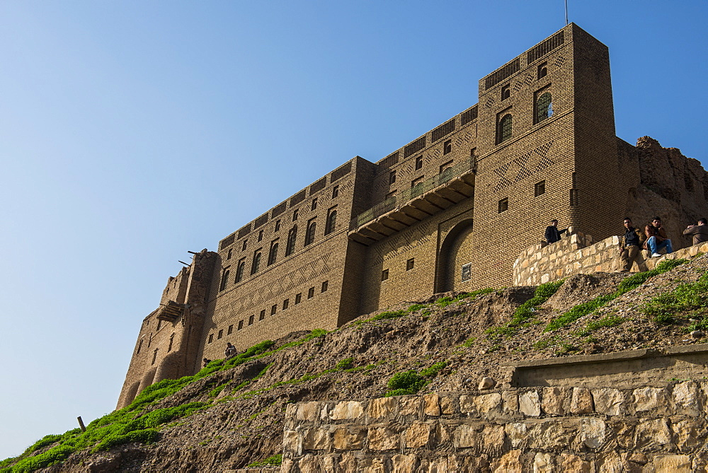 The citadel of Erbil (Hawler), capital of Iraq Kurdistan, Iraq, Middle East
