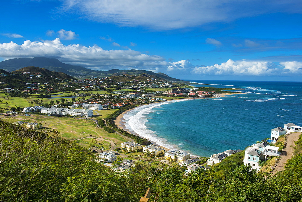 View over North Frigate Bay on St. Kitts, St. Kitts and Nevis, Leeward Islands, West Indies, Caribbean, Central America