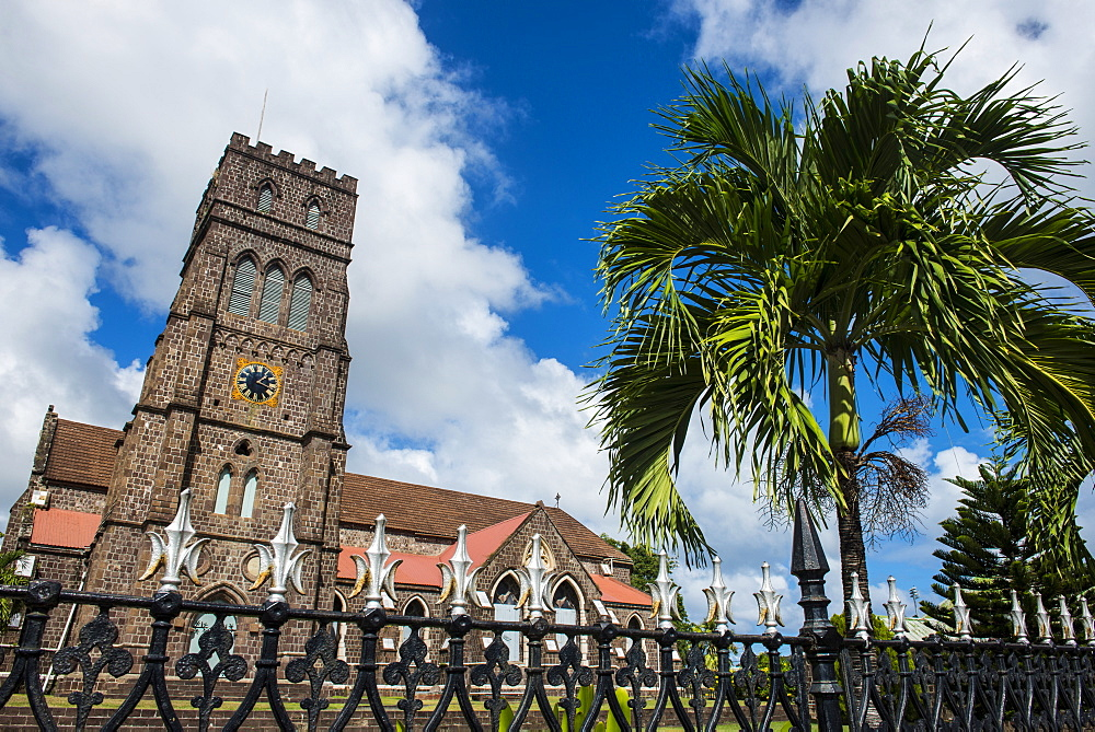 St. Johns Anglican church in Basseterre, St. Kitts, St.Kitts and Nevis, Leeward Islands, West Indies, Caribbean, Central America