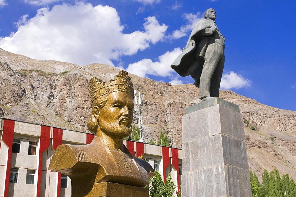Statue of Lenin, Communism, Khorog, Tajikistan, Central Asia, Asia