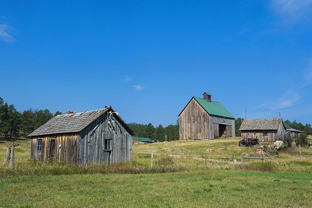 Old farm, Black Hills, South Dakota, United States of America, North America