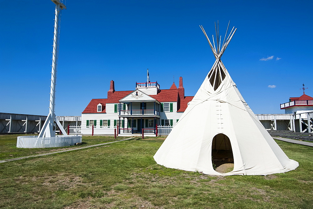 Indian wigwam in Fort Union, North Dakota, United States of America, North America