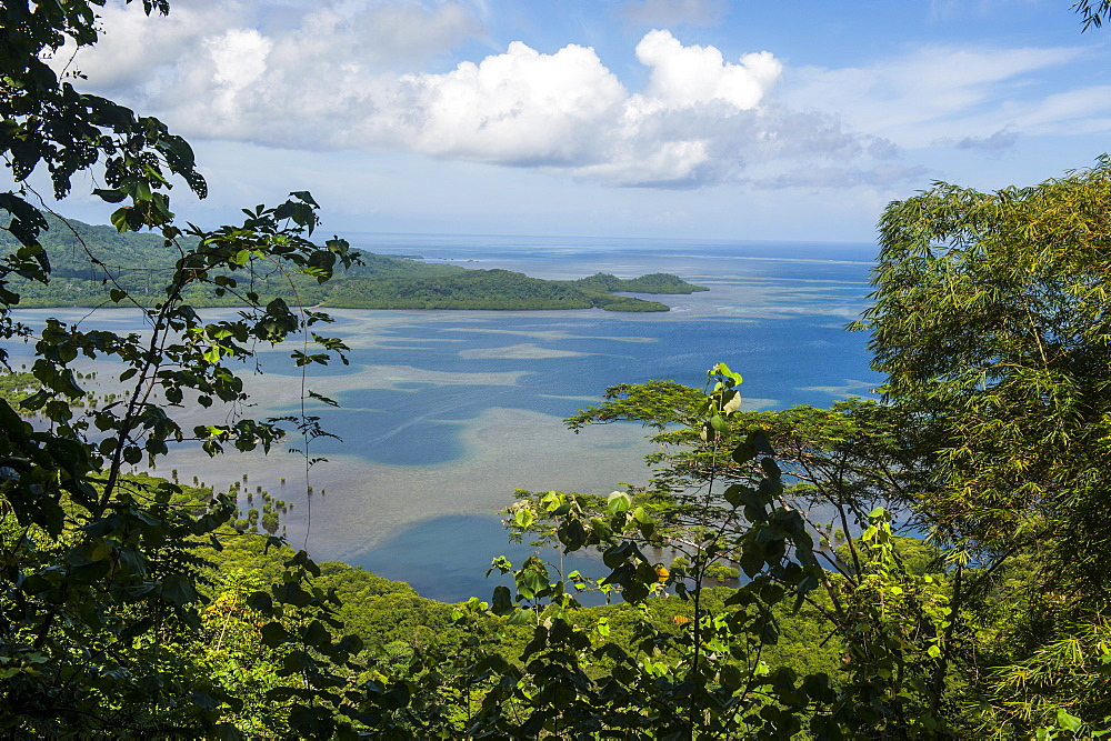Overlook over the island of Pohnpei (Ponape), Federated States of Micronesia, Caroline Islands, Central Pacific, Pacific